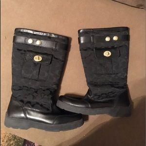 Authentic coach boots